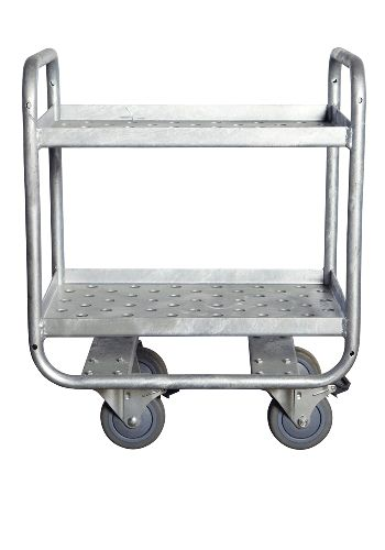 Industrial Trolley As A Side Desk Or Alcohol Bottle