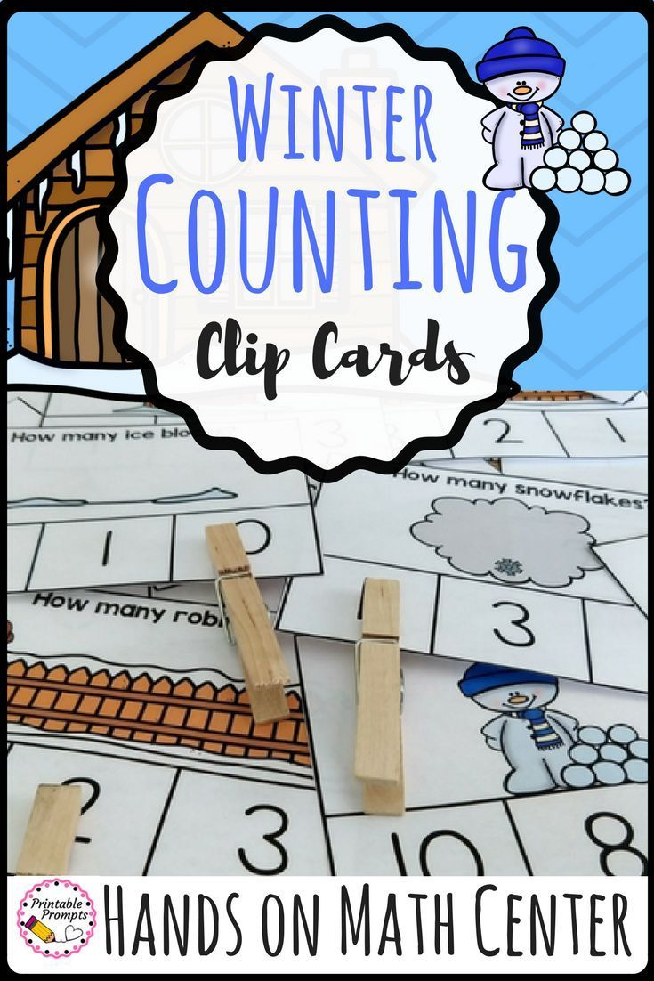 Practice counting and number identification this winter with a fun hands on winter math center. Count and identify the number for 55 different clip cards. Counting snowflakes, snowballs, icicles, ice blocks, and winter robins in December, January, and February for a fun seasonal practice!