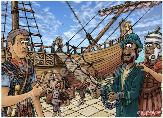 Acts 27 - Paul sails for Rome - Scene 01 - Centurion Julius