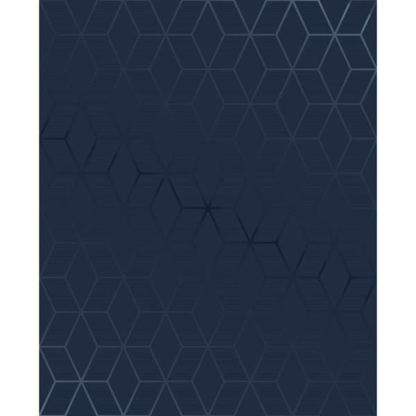 Superfresco Easy Kabuki Prism Vinyl Strippable Roll Covers 56 Sq Ft 101313 The Home Depot In 2021 Blue Accent Walls Vinyl Wallpaper Removable Wallpaper