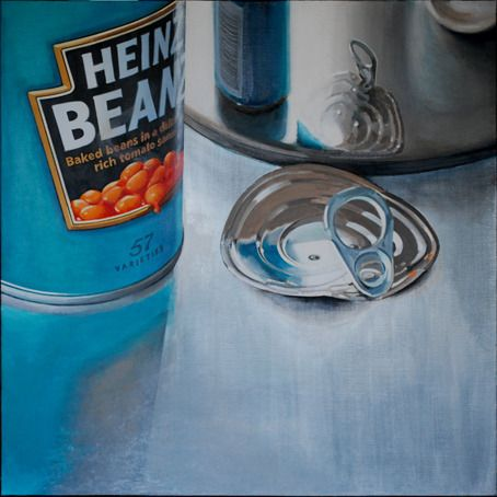 Cynthia Poole - First, Pop the Lid | From a unique collection of still-life paintings at http://www.1stdibs.com/art/paintings/still-life-paintings/Chalk pastel perhaps. Smooth quality to the work
