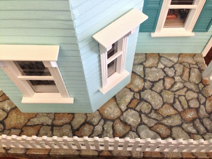 Once Upon A Doll Collection : Stonework Tutorial - Dollhouse Part 9