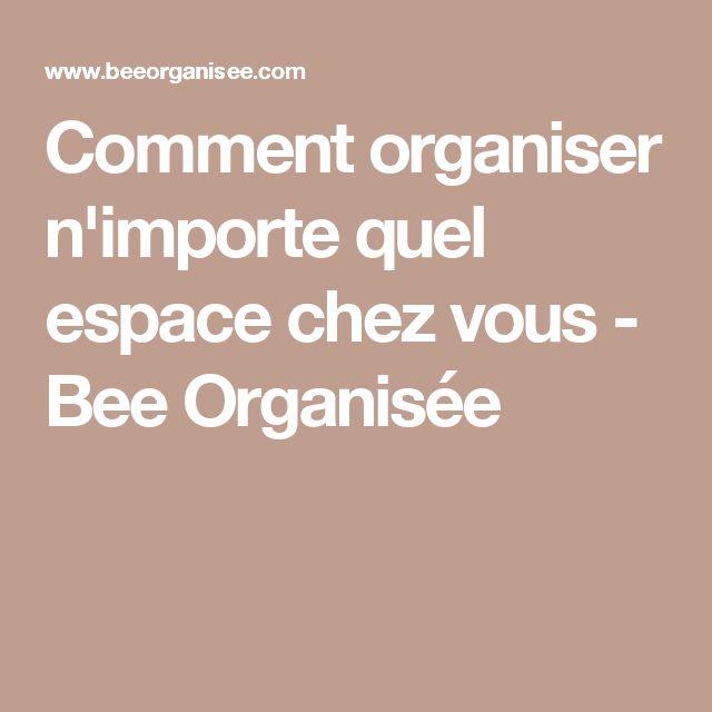 Comment organiser n'importe quel espace chez vous - Bee Organisée