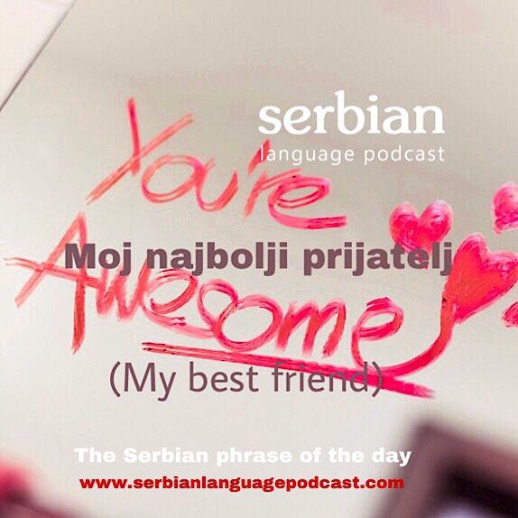 The Serbian Phrase Of The Day Moj Najbolji Prijatelj My Best