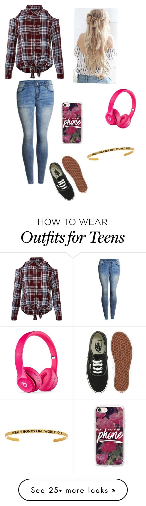 """""""Traveling in the 21st century"""" by carlenedenae on Polyvore featuring New Look, Vans, Casetify, Beats by Dr. Dre, traveling, sunday and November13th2016"""