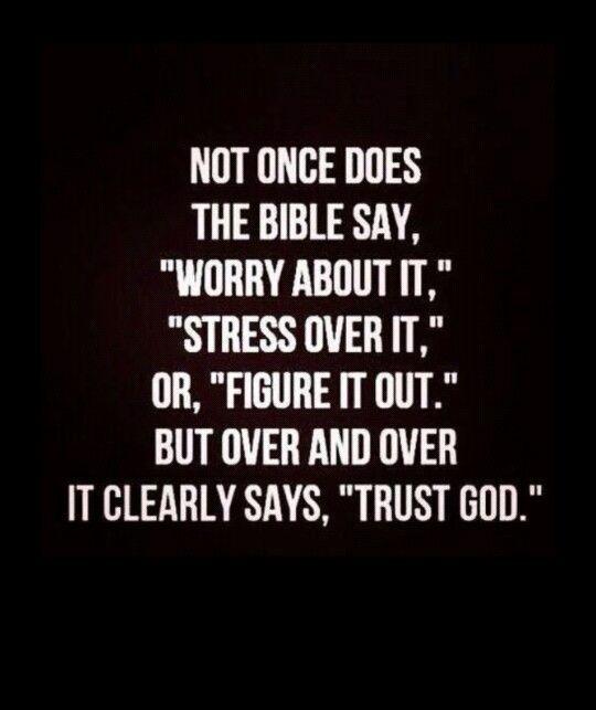 Let go & let God