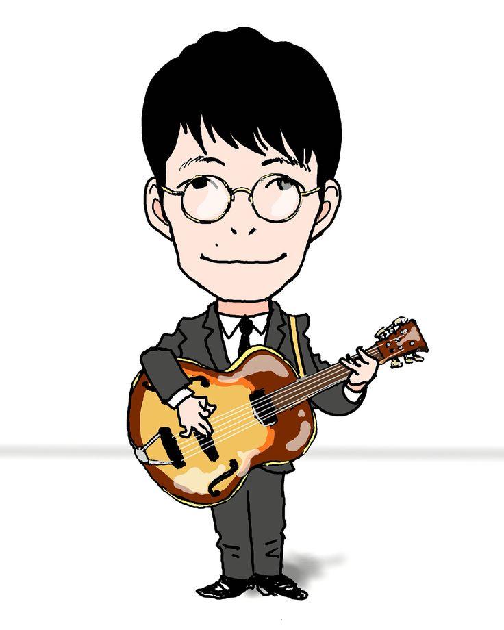 似顔絵 caricature 星野源 genhoshino イラスト illustration