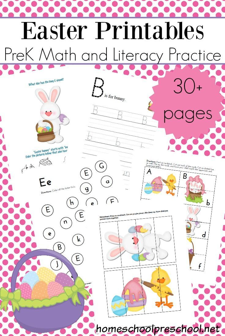 Free Easter Printable Learning Pack For Preschoolers Free Preschool Printables Free Preschool Easter Printables Preschool [ 1100 x 735 Pixel ]