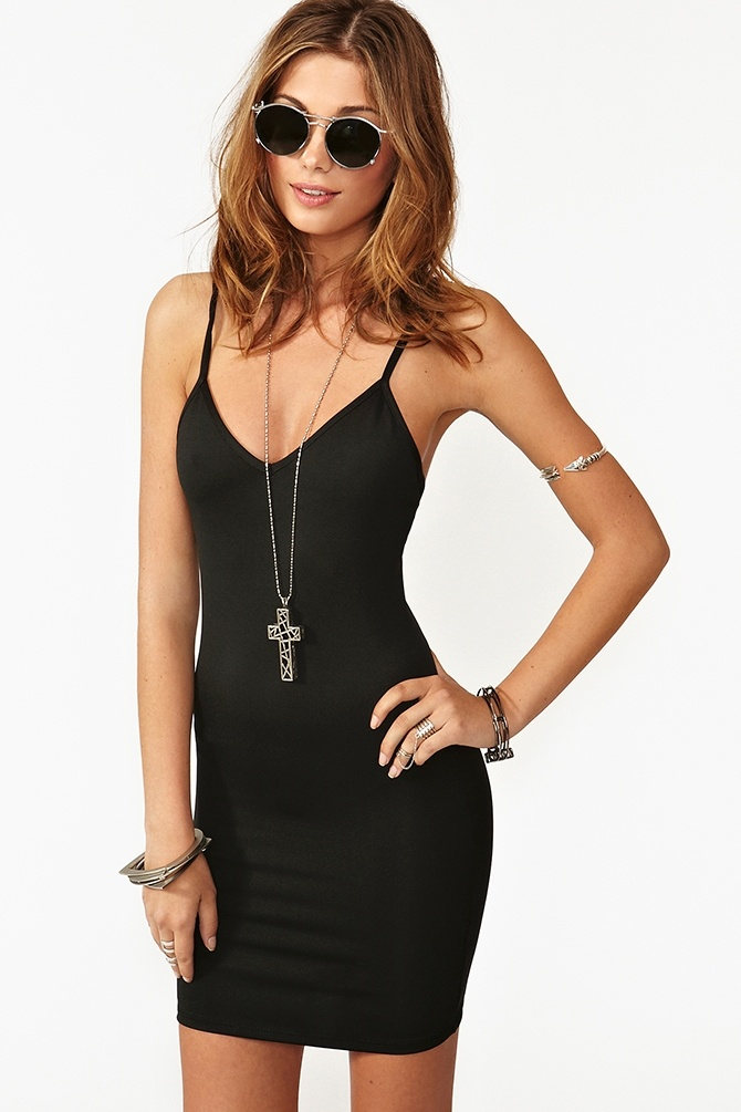 Essential Slip Dress - Black  $28.00