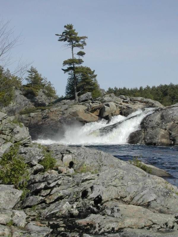 Moon Falls, South of Parry Sound, Ontario, Canada