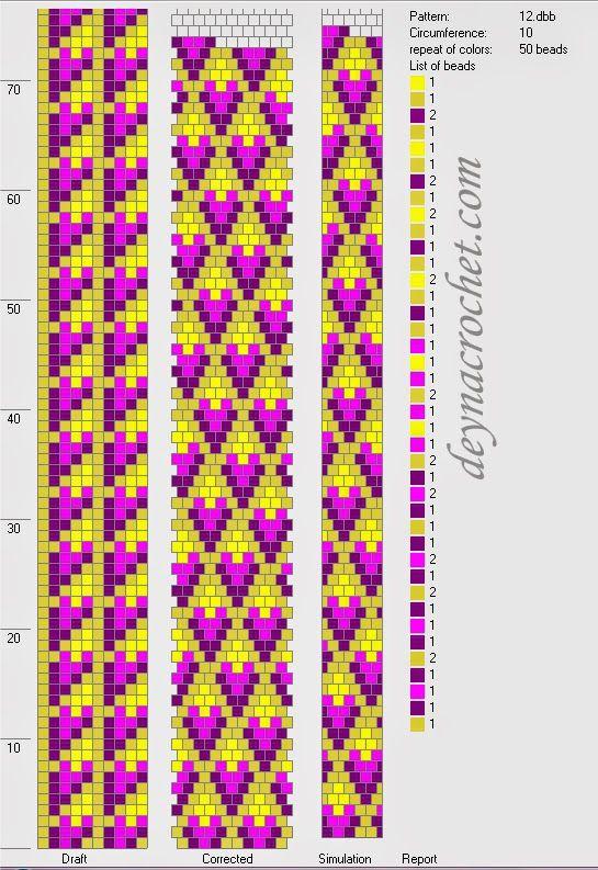 Браслеты - жгутики. Фото и схемы