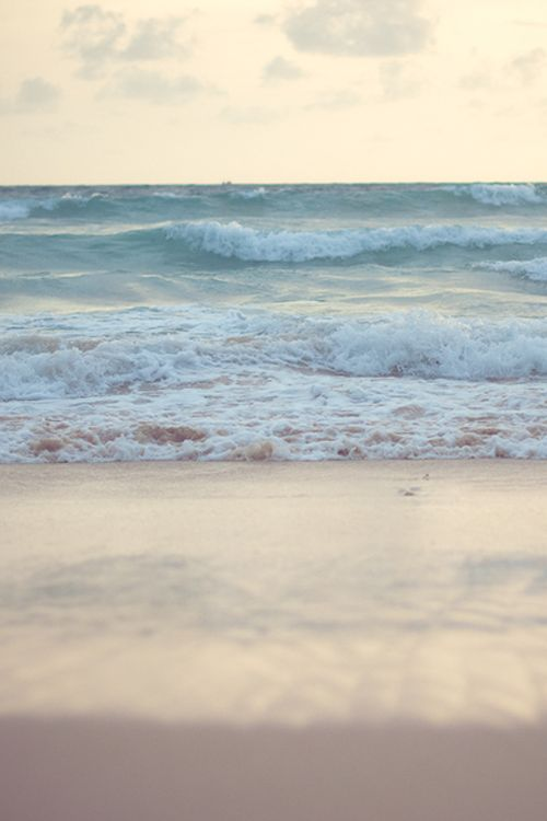 Ocean peace, delicate waves, wide coast, soft sand in your toes.