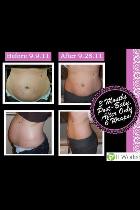 Before and after wrap results