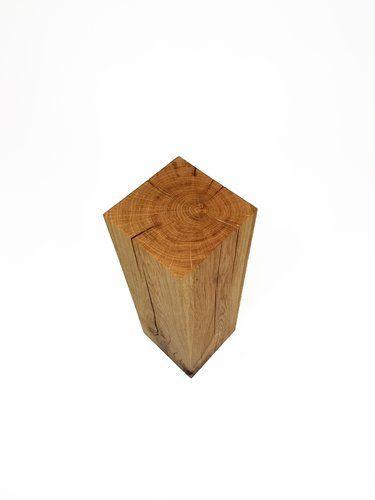 Pflanzsäule Eiche Massivholz 17x17x50cm handarbeit aus Deutschland Holzbalken Holzstele Stele Eichenklotz #heimgruen