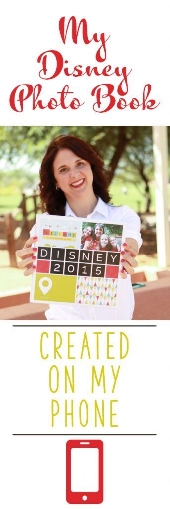 My Disney vacation photo book created entirely on my phone!