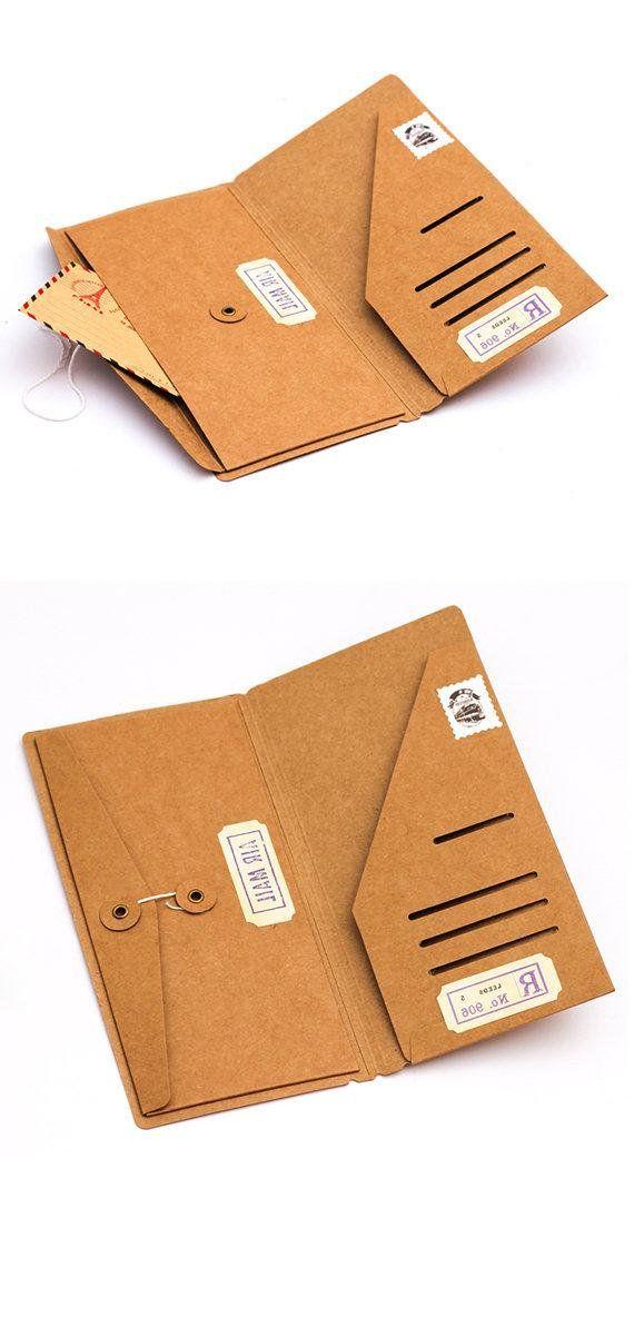 Sturdy Kraft Paper Insert Envelope Card Holder Wallet Journal Etsy Travelers Notebook Planner Paper Kraft Paper