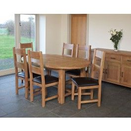 Furniture Line Hempstead Solid Oak Oval Extending Dining Table Only Spring Sale Give Our Sales Team A Call On 0116 235 77 86 And We Will Happily Price Match