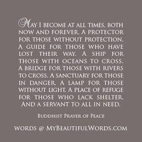 My Beautiful Words.: A Buddhist Prayer of Peace...