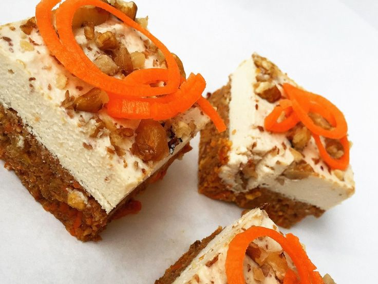 These Raw Paleo Carrot Cake Squares are just the perfect spring treat packed full of goodness and flavour. They're also Vegan & gluten-free so get snacking!