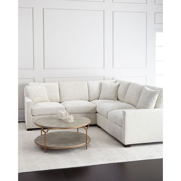 Ambella Vanna Mist Sectional (284.520 CZK) ❤ liked on Polyvore featuring home, furniture, sofas, neutral, outdoor loveseat, outdoor sectional, outdoor couch, outdoor love seat and ambella home furniture