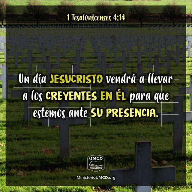 """Un día todos """"en Él"""" nos reuniremos  1 Tesalonicenses 4:13-18 """"Tampoco queremos, hermanos, que ignoréis acerca de los que duermen, para que no os entristezcáis como los otros que no tienen esperanza. Porque si creemos que Jesús murió y resucitó, así también traerá Dios con Jesús a los que durmieron en él. Por lo cual os decimos esto en palabra del Señor: que nosotros que vivimos, que habremos quedado hasta la venida del Señor, no precederemos a los que durmieron. Porque el Señor mismo con…"""