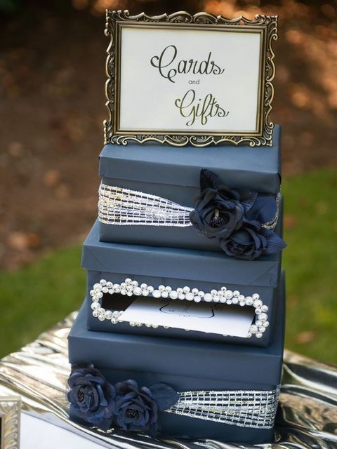 45 Gorgeous Navy And Silver Wedding Ideas | HappyWedd.com. Old pic frome idea gold Pearls Layered