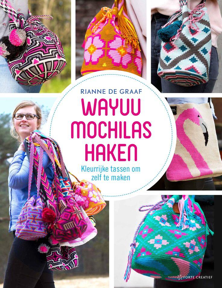 * Pre-order! Het boek Wayuu mochilas haken is vanaf nu te reserveren in de webshop. Verwachtte verschijningsdatum is 17 augustus 2017  #RiannesHaaksels #Wayuumochilashaken #Mochilahaken #haken #handwerkboek