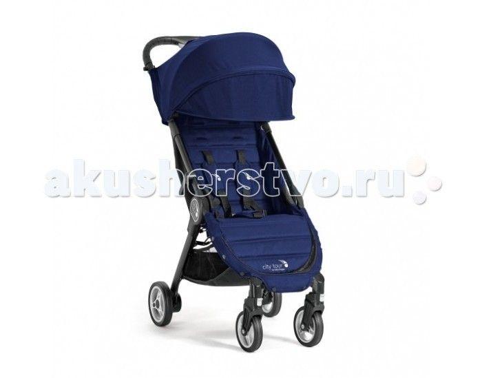 Прогулочная коляска Baby Jogger City Tour  Прогулочная коляска Baby Jogger City Tour имеет компактные размеры и легкий вес, в комплекте бампер и рюкзак для транспортировки, что делает коляску отличным помощником в путешествиях, так как она соответствует параметрам ручной клади в большинстве видах транспорта.  Коляска имеет полноценное многопозиционное лежачее положение спинки, большой капюшон с окошком для просмотра, амортизацию на передних колёсах.   Сиденье данной прогулочной коляски…