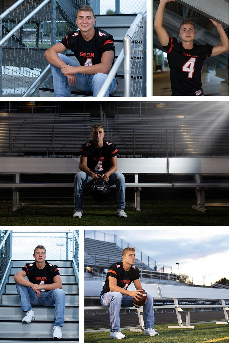 Senior Football players love to have a few pics on their
