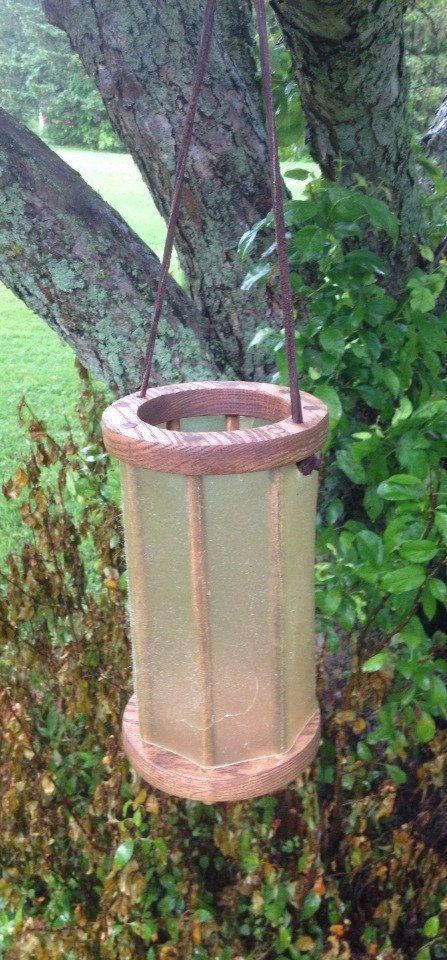 Viking Latern Wood and Velum Lantern by ThePracticalViking on Etsy