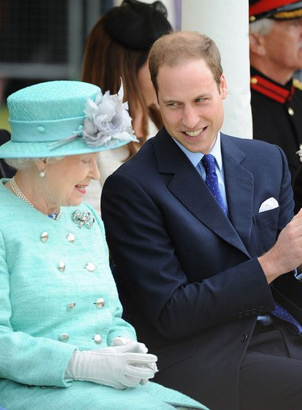 HM Queen Elizabeth II and Prince William, the Duke of Cambridge.