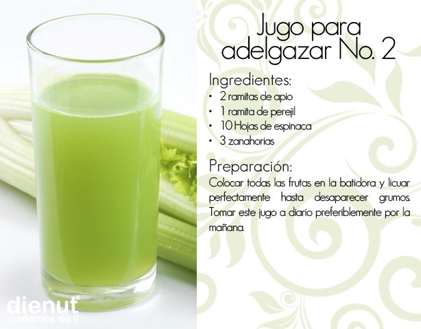 Jugo para adelgazar   -   Juice to lose weight
