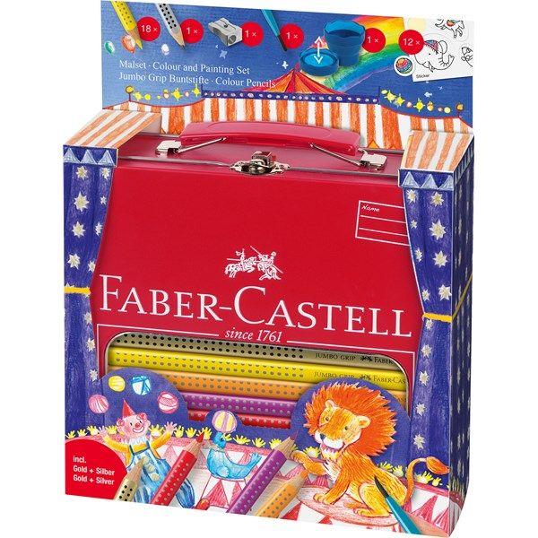 Faber-Castell Grip Color -värikynät, Metallinen lahjapakkaus, 18 kpl