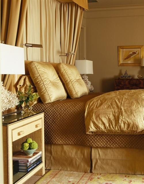 gold bedroom decor...Im in love with this color! I may very well go with this in our bedroom