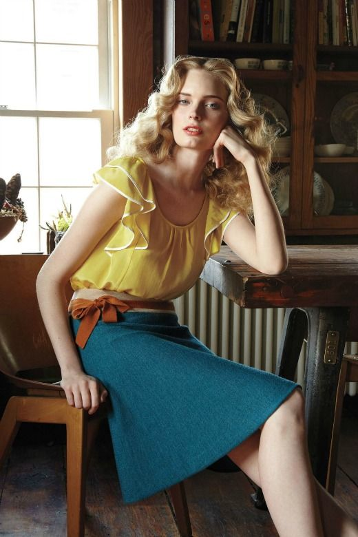 Don't like the yellow but love the skirt.
