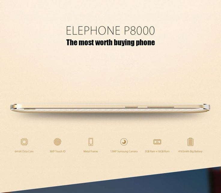 Elephone P8000 Octa-core Phone - Golden - Free Shipping - DealExtreme
