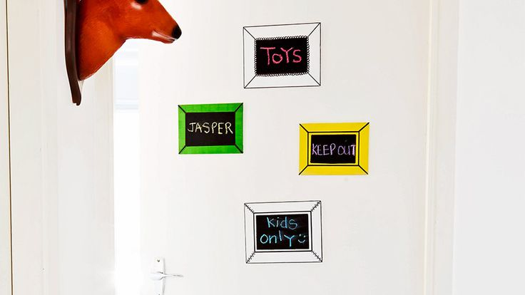 Keep Out Kids Only Use A Small Artist S Canvas Chalkboard Paint And Marker Pens To Make A