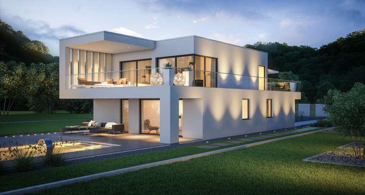Kern-Haus Architektenhaus Arta Garten Abend Haus 20 Pinterest - garten lounge uberdacht