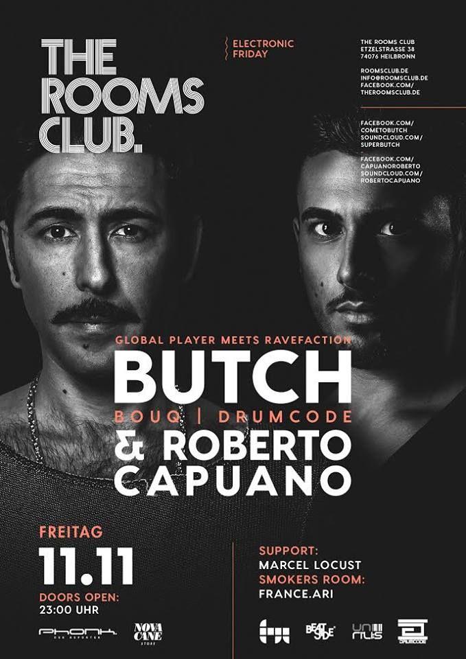 The Rooms Club  Etzelstraße 38 74076 Heilbronn #heilbronn #nachtclub #party #nightclub #stuttgart #mannheim #ludwigsburg #theroomsclub #electronicfriday #deephouse #techno #butch #robertocapuano