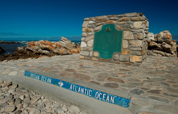 The landmark at the southernmost tip of Africa