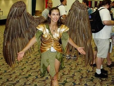 Another take on costume wings. These look extremely cool but are probably time consuming to make.