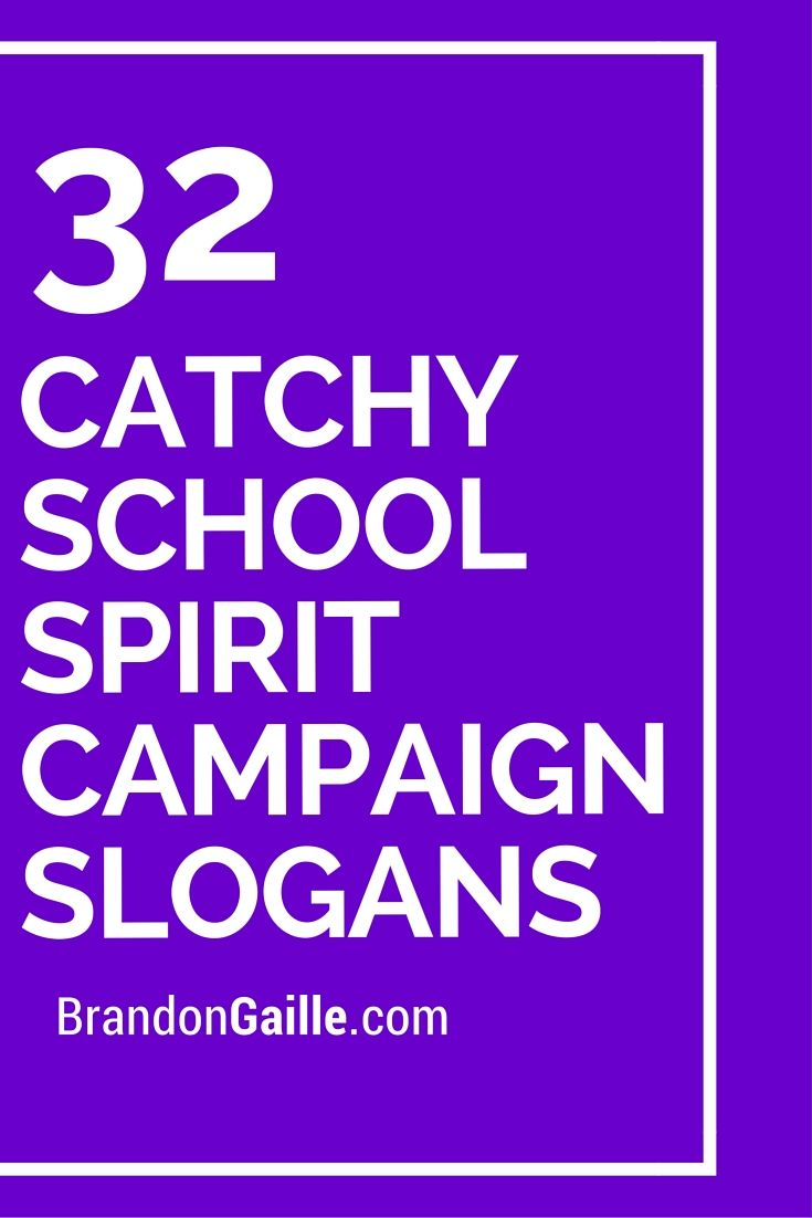 32 Catchy School Spirit Campaign Slogans