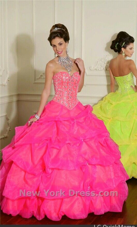 Hot pink quinceanera dress  Quinceanera  Pinterest  Quinceanera ...