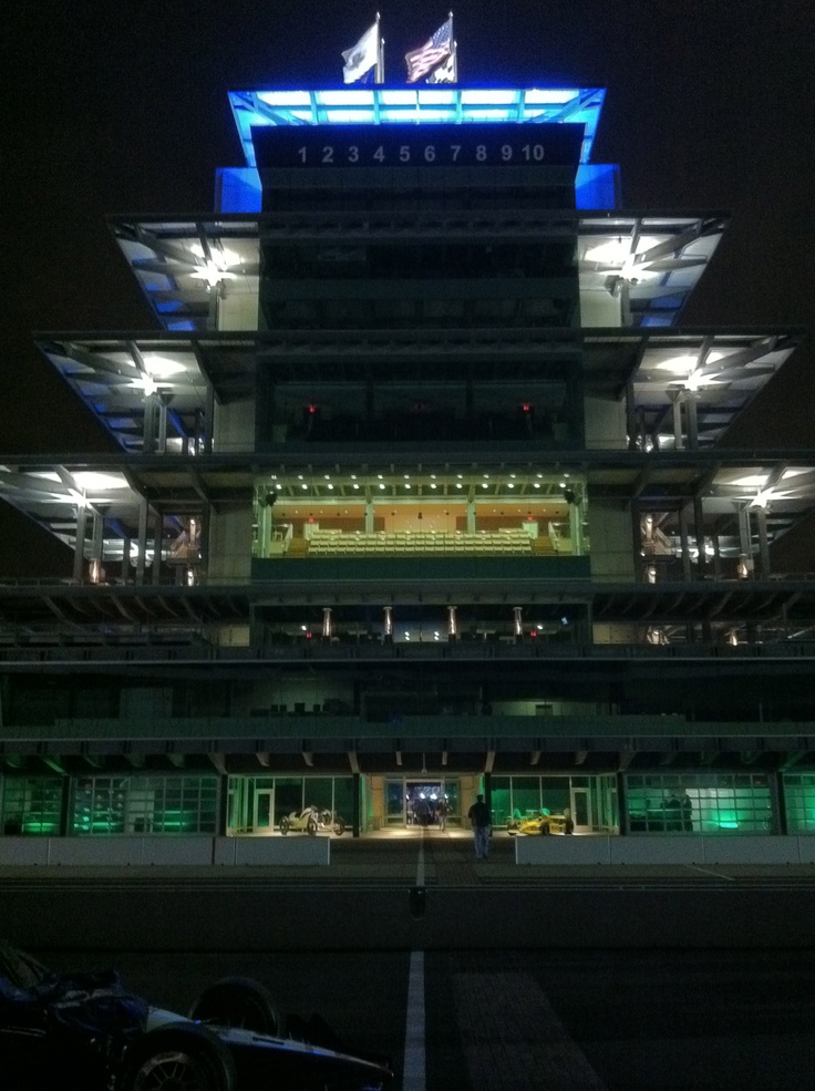 The Pagoda from the start/finish line, Indianapolis Motor Speedway, Indianapolis, IN