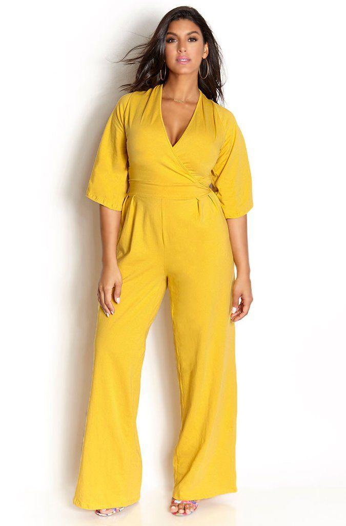 Rebdolls ''Good Karma'' Pleated Pant Jumpsuit - Mustard