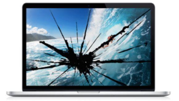 """Damaged LCD Screen $159 Macbook Pro 13"""" 2011-MC700LL/A LCD Screen Repair Service"""