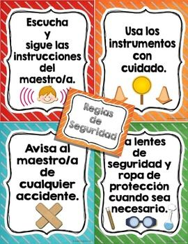 Get your science bilingual center ready with these Science Safety Tools in Spanish for bilingual, dual language and spanish classrooms. This 105+ page pack of science tools in spanish are easy to set up just print pages needed on tagboard, laminate, cut and post around your classroom or in your science bilingual center.
