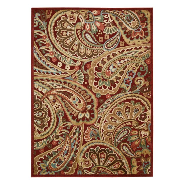 Nourison Graphic Illusions Paisley Rug, Red