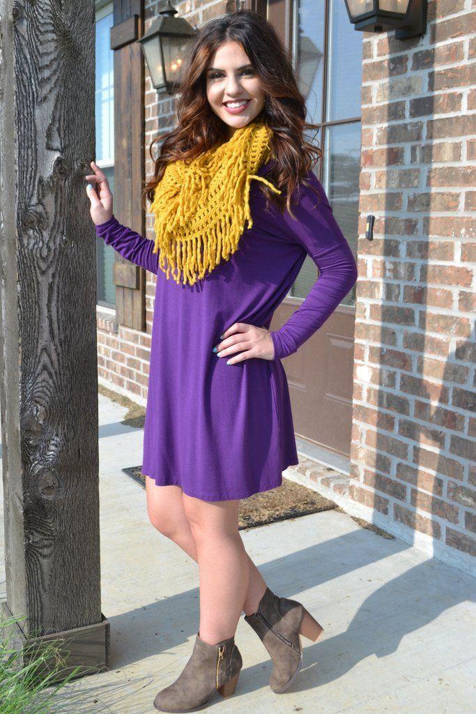 Purple Piko Dress