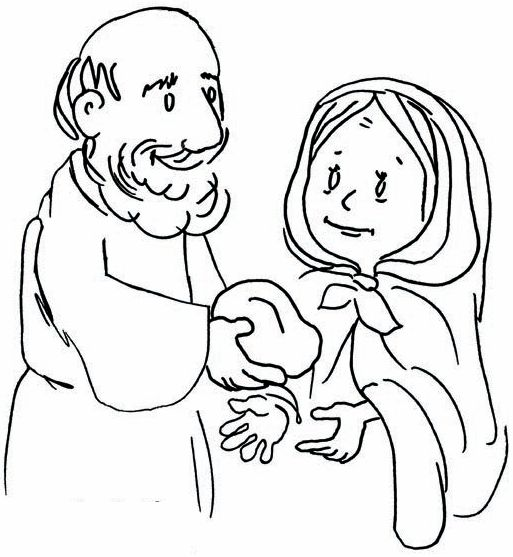 widow makes elijah bread 16 - Elijah Bible Story Coloring Pages